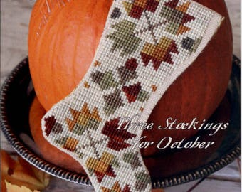 Blackbird Designs: Three Stockings for October – October Harvest - Cross Stitch Pattern