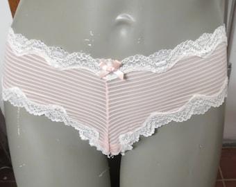 Vintage Pink Victorias Secret  Panties Large   P 04