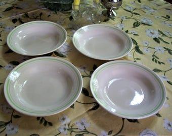 flat rim soup bowls, 4 soup bowls