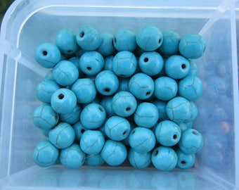 8mm Magnesite Gemstone Beads