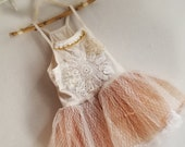 ON HOLD for ANNA. Girls size 5-6 white ballerina flower girl dress with vintage doilies and tulle/organza skirt. One of a kind.