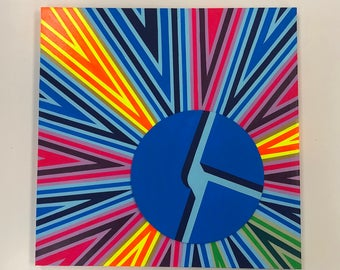 DISCO BISCUITS Op Art Stobe Painting
