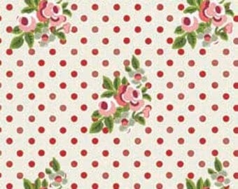 Roses and Dots Fabric, Elizabeth Rose by Gray Sky Studio for In The Beginning Fabrics, 5GS-1