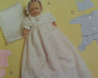 BABY DOLL CLOTHES Pattern • McCalls 5553 • 11-16 Inch Dolls • Doll Christening Gown • Doll Diaper Cover • Craft Patterns • WhiletheCatNaps