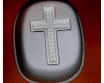 Cool Large CROSS Frit Stained glass fusing kiln jewelry mold