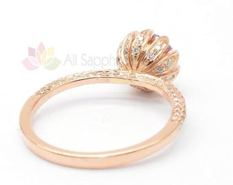 Lotus gold Diamonds engagement ring SKU Lotus setting