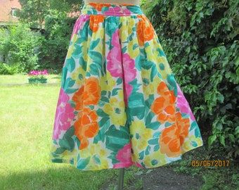 Cotton Shorts Skirt / Womens Shorts / Shorts Vintage / Size EUR38 / 40 XUK10 / 12 / Summer Shorts / Shorts Floral