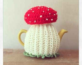 Traditional English Toadstool Tea cosy. Choose teapot size. Uk seller