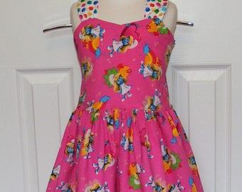 Smurfette Tie  Back  Dress ( 2T,  3T, 4T, 5, 6, 7, 8)