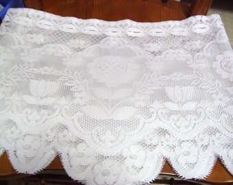 Three Lace Valances-13.5 x 68 inches each