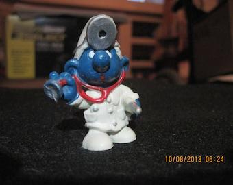 Vintage Doctor Smurf...1978...Peyo...Hong Kong...Gift 4 Doctor,Gift 4 Medical Student,Gift 4 EMT,Gift 4 ER Doctor,Gift 4 First Aid Worker