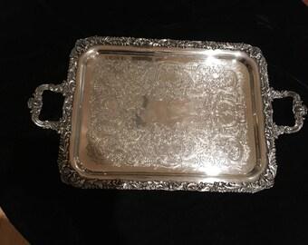 Vintage Friedman Silverplate Tray