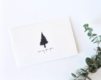 Manly Love Card - Anniversary Card - Pine Tree Drawing - Pining for You