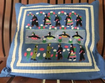 Hand Made Hill Tribe Embroidered Cushion Case