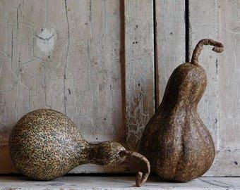 Primitive Fabric Gourds Set, Halloween, Fall Harvest Decor