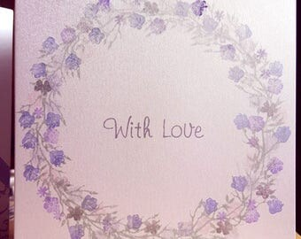 With Love Floral in Purple
