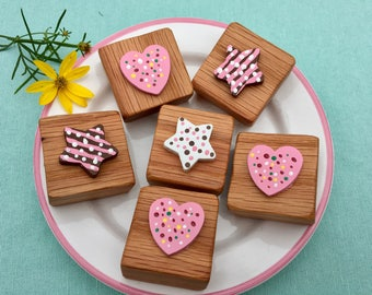 Tea Party Time- Pretend Wooden Sweet Treats with Napkins