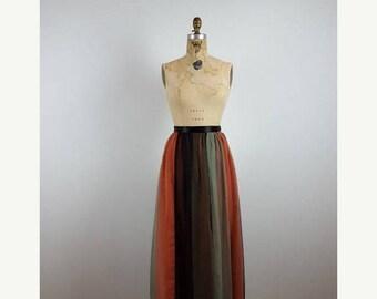 CLEARANCE SALE runaway | vintage 60s silk chiffon dress skirt | vtg 1960s chiffon cocktail skirt |  small/s
