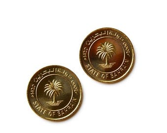 Limited Time Offer Bahrain Coin Cufflinks - Men's Jewelry - Handmade - Gift Box Included