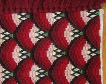 Large Vintage Needlepoint , Bargello, for Piano Bench