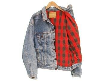 """Vintage LEVIS Jacket Denim Blanket Lined - XL 46"""" 48"""" (26319)"""
