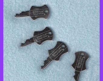 Vintage American Tourister Keys Set 4 Luggage Travel 1960s 1970s
