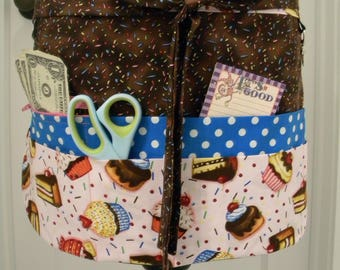 Teacher Aprons-Crafter Vendor Utility Apron-Sweet Treats and Sprinkles