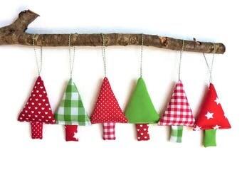 Christmas tree ornaments gingham christmas decoration stocking stuffer christmas trees christmas baubles christmas tree hanging