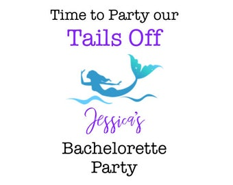 Mermaid Bachelorette Party Favor Trading My Tail For A Veil Time To Our Tails
