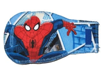 Blue Spiderman Eye-Lids - kids eye patches - soft, washable eye patches for children and adults