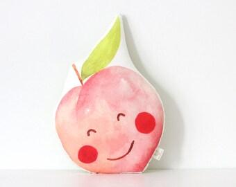 Peach cushion Peach Pillow Fruit Cushion Kawaii Peach Cushion Fruit Plush Tropical Throw Pillow