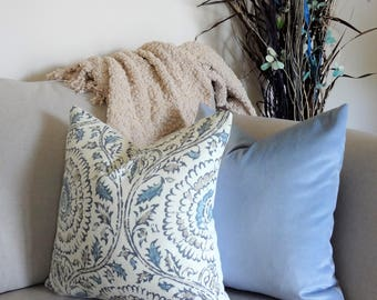 NEW Baby Blue Velvet Luxury Powder Blue Pillow Cover Home Decor by HomeLiving Size 18x18