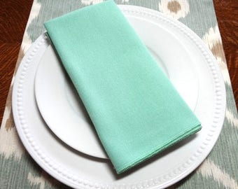 FALL is COMING SALE Sale Mint Green Seafoam Blue Napkin Table Decor Dining Room Size 16x16 17x17 Napkins