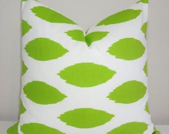 Decorative Pillow Throw Pillow Covers Lime/White Green Ikat Pillow Cover Lime Green Chipper Size 18x18
