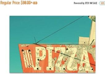 food art // pizza art print // kitchen art print // food photography sign // Italian food - Pizza 16x24, 20x30 photography art print