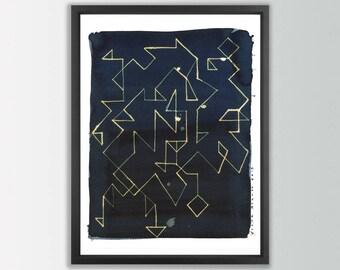 Modern art print. Abstract Wall Art. Modern abstract art. Living room wall art. Abstract Art Prints. Ink Prints. Modernist painting