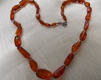 Vintage Amber Abstract Necklace -SUPER
