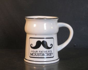 Vintage Moustache Mustache Mug-Your Father's Moustache-Collectible Mug