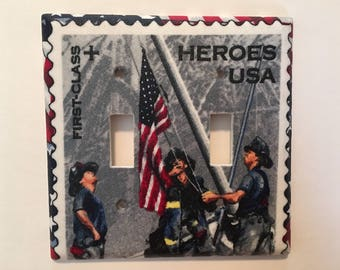 Firefighters Heroes Double Light Switch Plate