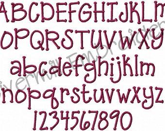 1 Inch Size Grasshopper Machine Embroidery Font Monogram Alphabet