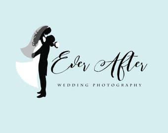Wedding Photography Logo Watermark Bride and Groom Wedding Photographer Classic Chic Premade Logo Predesigned Logo