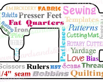Sewing SVG - Sewing Art - Quilt Design - Sewing Machine - Digital Cutting File - Cricut Cut - Instant Download - Svg, Dxf, Jpg, Eps, Png