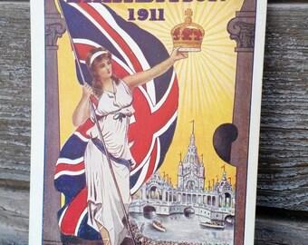 Vintage 1911 Coronation Exhibition Postcard Great White City Shepherds Bush London