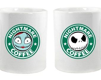 Nightmare Coffee Jack and Sally Matching Mugs