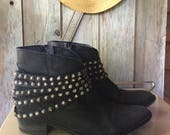 Steve Madden Studded Ankle Boots Size Ladies 8.5