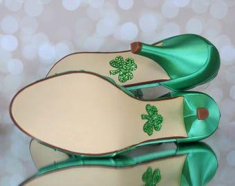 CUSTOM CONSULTATION:  Green Wedding Shoes, St. Patricks Day Wedding, Design Your Wedding Shoes, Custom Wedding Shoes, Shamrock Shoes