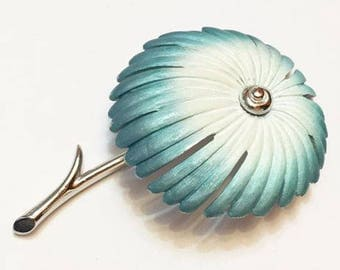 Vintage Park Lane Blue and White Flower Figural Brooch