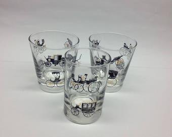 Libbey Curio Cocktail Set Vintage Glasses 1 Tumbler  2 Cocktail Glasses