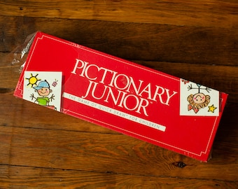 Vintage 80s Unopened PICTIONARY JUNIOR Drawing Game