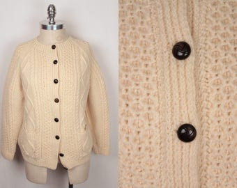 vintage wool cardigan // made in ireland